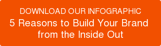 DOWNLOAD OUR INFOGRAPHIC 5 Reasons to Build Your Brand  from the Inside Out
