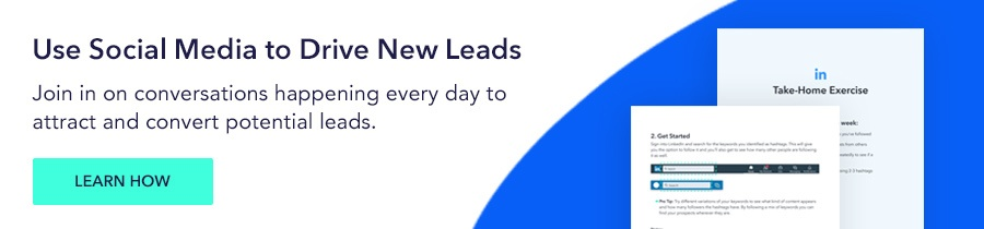 use social media to drive new leads
