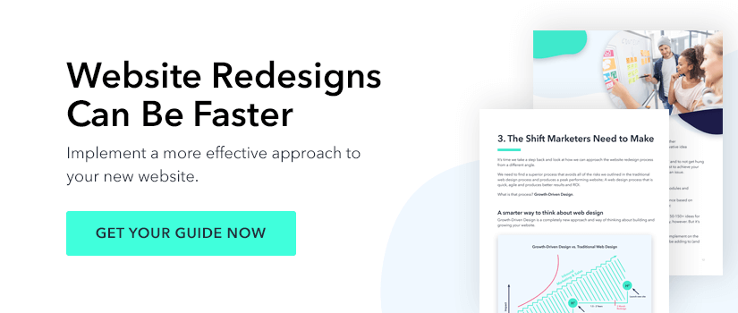website redesigns can be faster - get your guide now