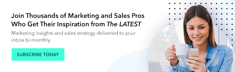 Join Thousands of Marketing and Sales Pros Who Get Their Inspiration from The LATEST