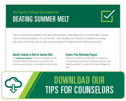 Download our Tips for Counselors