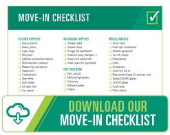Download USF's Move-In Checklist