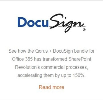 Qorus and DocuSign transform SharePoint Revolution