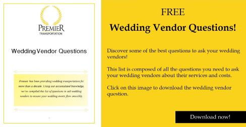 Wedding Vendor Questions