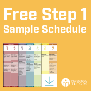 free usmle step one sample schedule