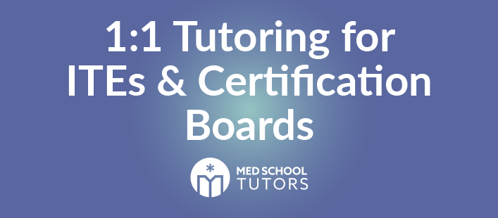 One-on-one tutoring for In-Training Exams and certification boards.