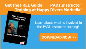 PADI instructor training at Happy Divers Marbella