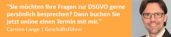Beratung Umsetzung DSGVO