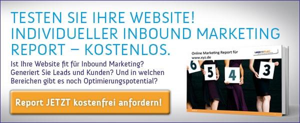 kostenfreien Inbound Marketing Report bestellen!