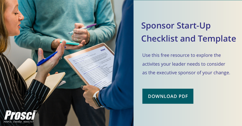 Sponsor Start-Up Checklist and Template