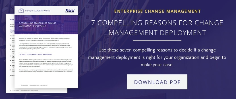 7 Reasons for Change Management Deployment