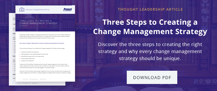 Three Steps to a Change Management Strategy PDF