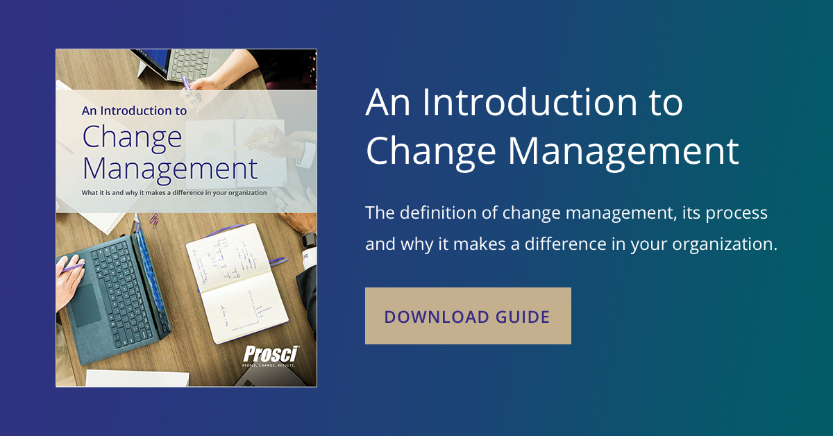 Introduction to Change Management - Prosci