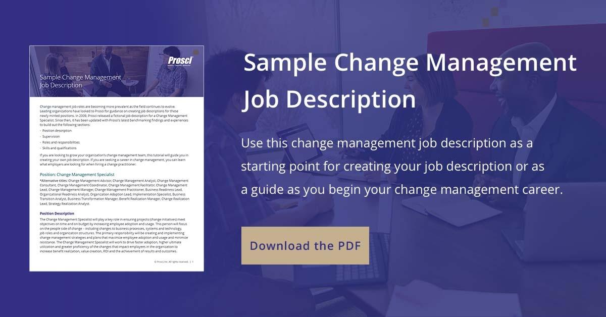 change management job description