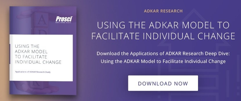 "Download ""Using the ADKAR Model to Facilitate Individual Change"" research deep dive"
