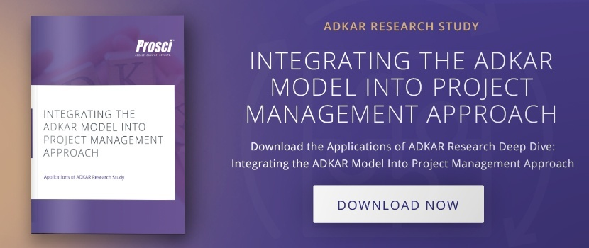 "Download ""Integrating the ADKAR Model Into Project Management"" research deep dive"