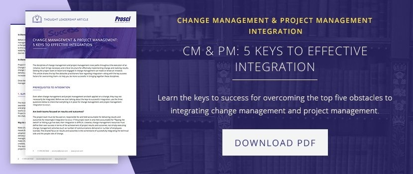 The Value of Integration Change Management and Project Management
