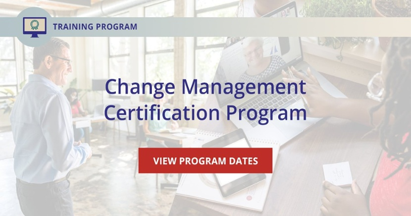 Prosci Change Management Certification Program - CTA