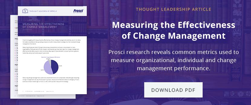 Download Measuring Effectiveness of Change Management