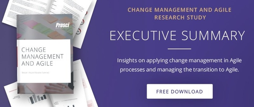 Change Management and agile research summary
