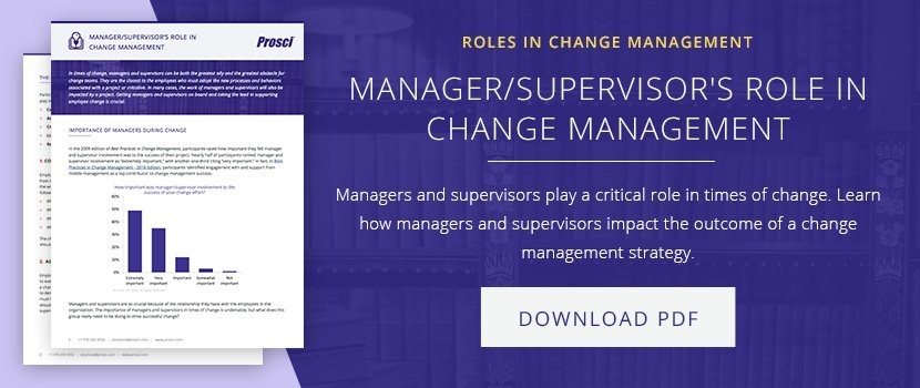 Managers and Supervisors' Roles in Change Management