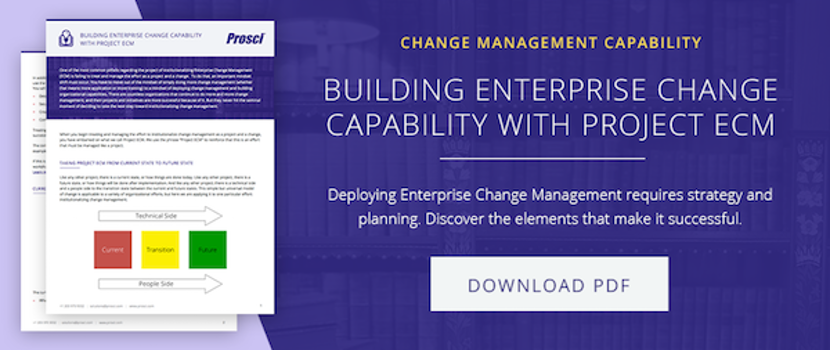 Building Enterprise Change Capability with Project ECM