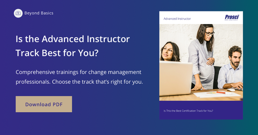 advanced change management instructor certification