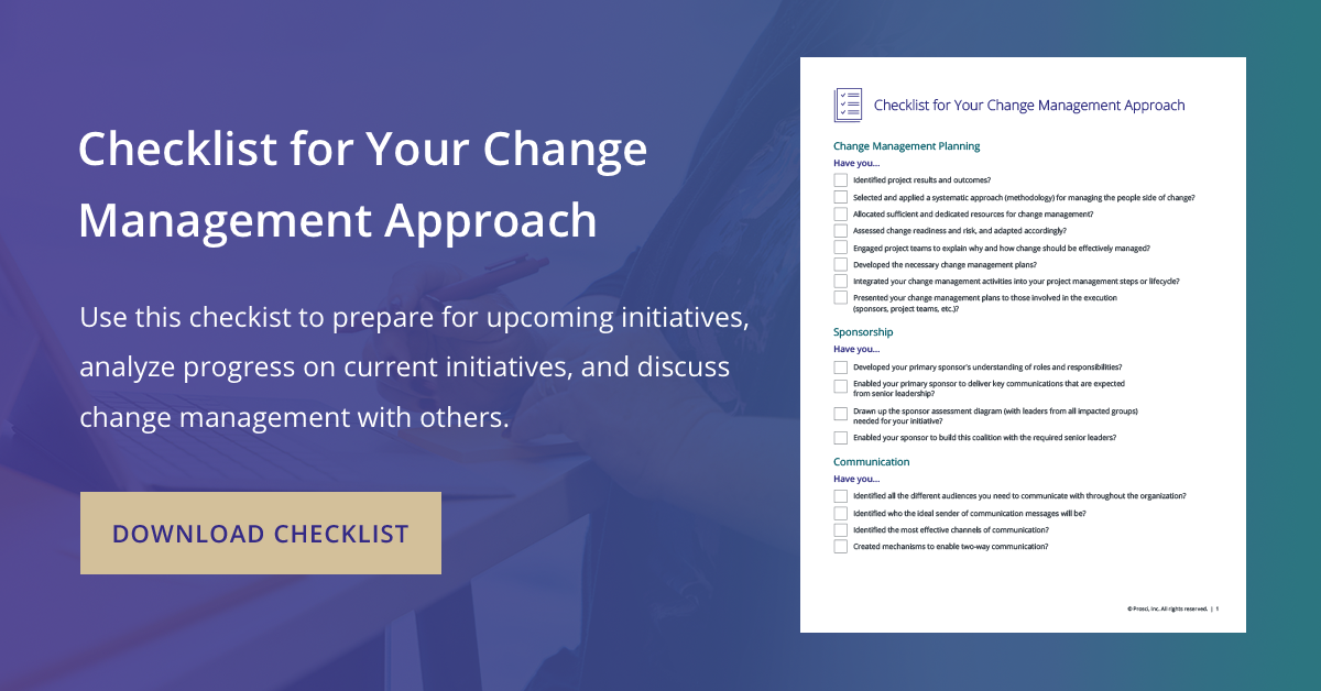 Image of Checklist for Your Change Management Approach
