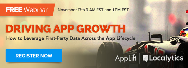 Free Webinar - Driving App Growth (How to Leverage First-Party Data)
