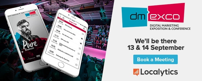 Meet with Localytics at Dmexco 2017.