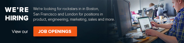 Open jobs in Boston, San Francisco and London