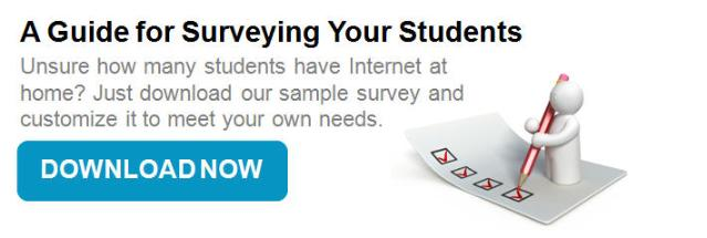 Survey Your Students for Internet at Home