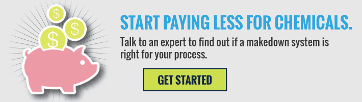 Start Paying Less For Chemicals, See If A Makedown System Is Right For You.