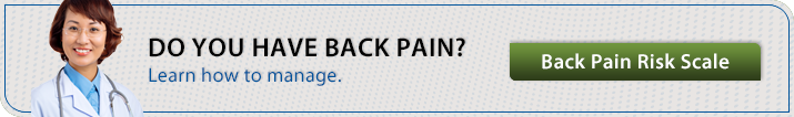Learn how to manage your back pain with our Back Pain Risk Scale