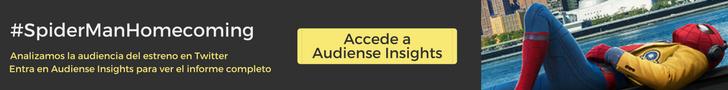 Accede a Audiense Insights para ver el informe completo sobre la audiencia de #SpidermanHomecoming - Audiense Insights