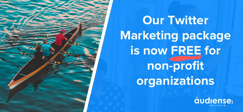 Our Twitter Marketing package is now FREE for non-profit organizations