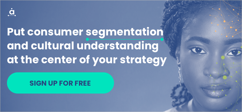 Put consumer segmentation and cultural understanding at the center of your strategy - SIGN UP FOR FREE
