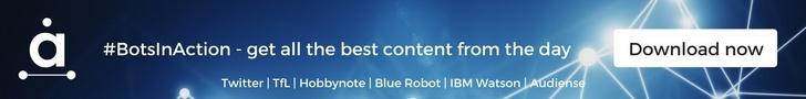Bots in Action - Audiense - #BotsInAction event, 6 June. Twitter. Transport of London. Hobbynote. Blue Robot. IBM Watson.