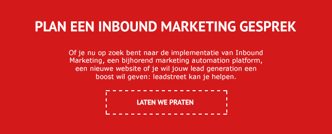 Plan een Inbound Marketing gesprek