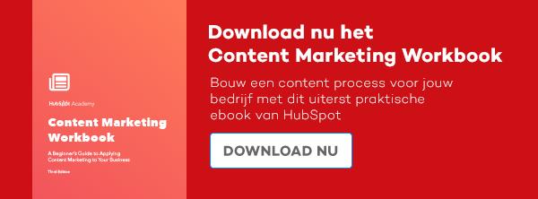 Download nu het Content Marketing Workbook