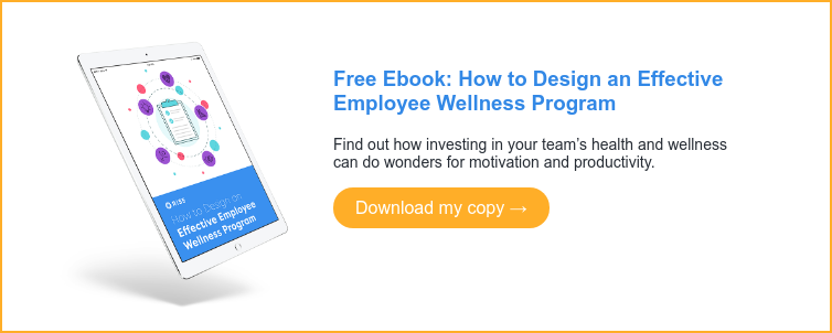 Free Ebook: How to Design an Effective Employee Wellness Program Find out how investing in your team's health and wellness can do wonders for motivation and productivity. Download my copy →