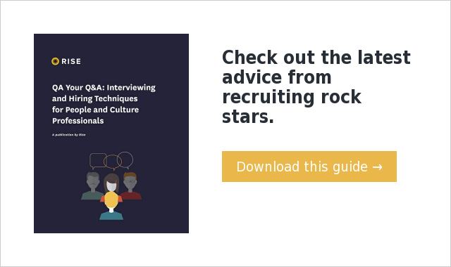 Check out the latest advice from recruiting rock stars. Download this guide →