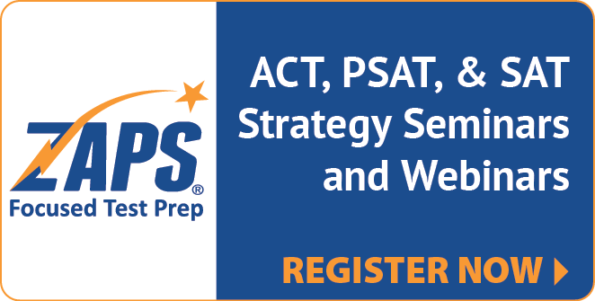 Zaps Test Prep Seminars Register Now