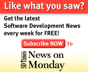 Get the latest Software Development News every week for FREE! Subscribe now to SDTimes News On Monday