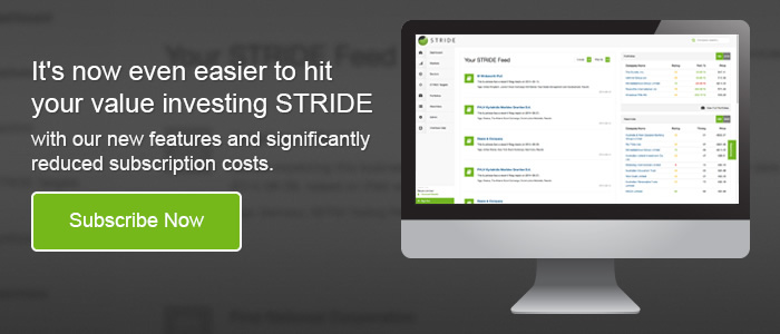 Subscribe to STRIDE - New features and reduced subscription costs.