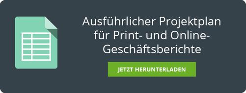 Projektplan für Print- und Online-Geschäftsberichte