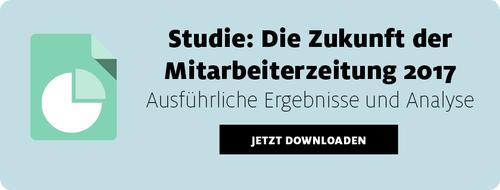 Studie Zukunft der Mitarbeiterzeitung 2017