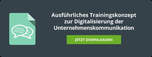 Lern- und Trainingskonzept zur Digitalisierung der Unternehmenskommunikation
