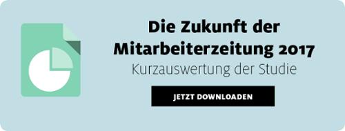 Studie Zukunft der Mitarbeiterzeitung 2017 Kurzauswertung