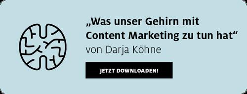 Artikel zum Download Was unser Gehirn mit Content Marketing zu tun hat
